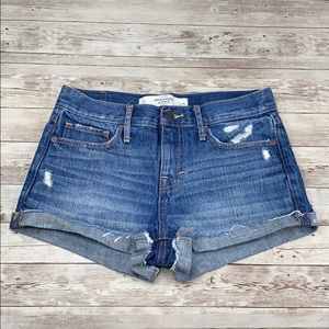 Abercrombie & Fitch distressed denim shorts - 25